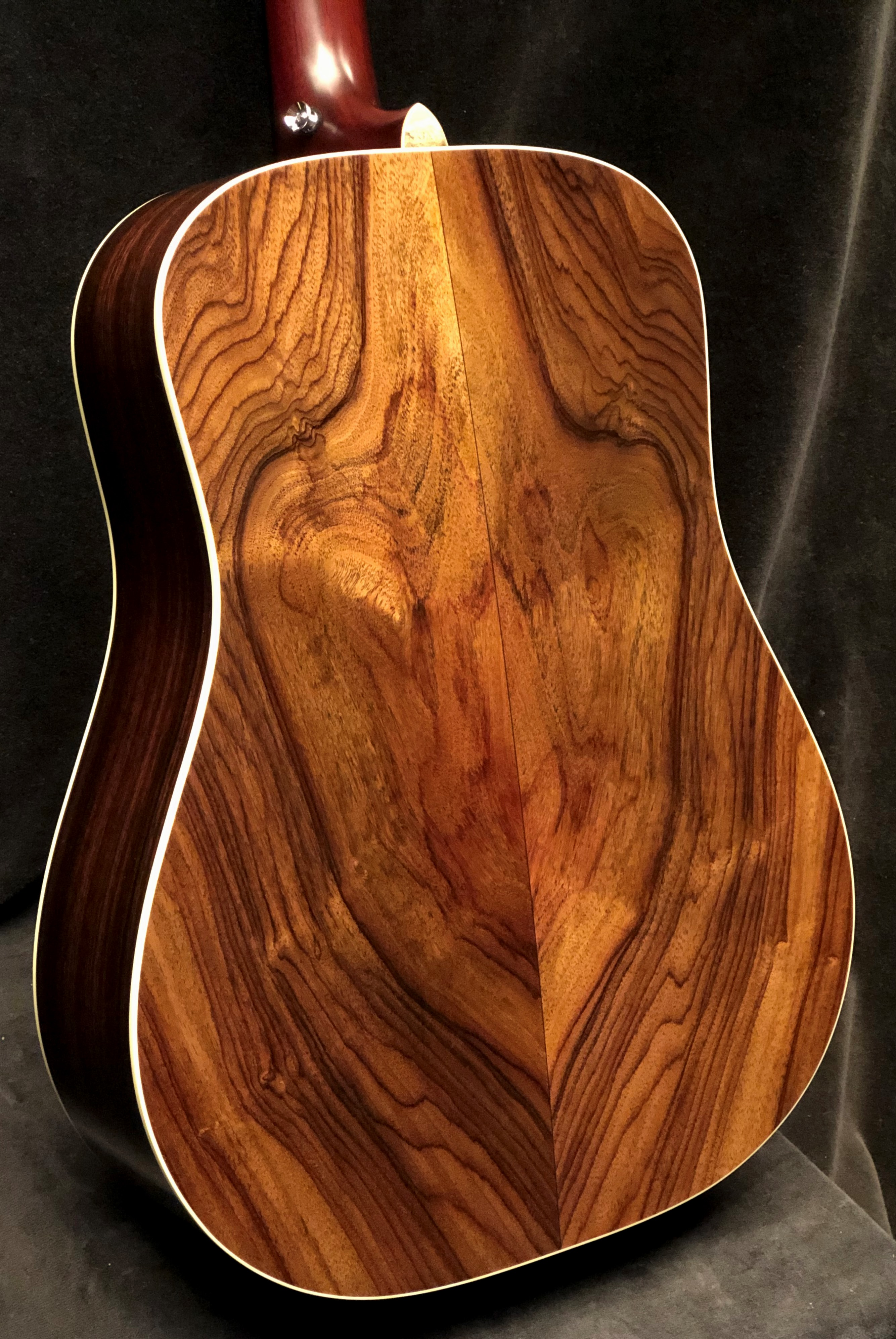 Just shipped Monday December 24th: Custom D/PW Figured Indian Rosewood