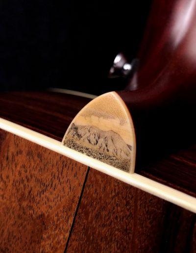 Custom Scrimshaw heel cap