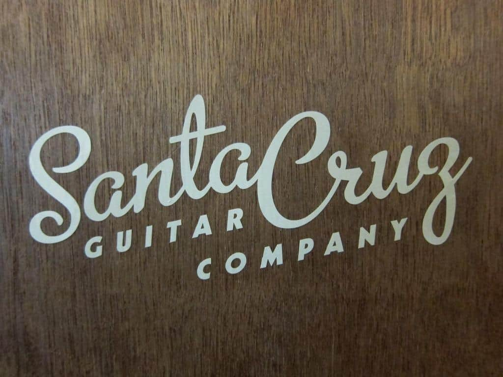 Santa Cruz Guitar Company Window Sticker